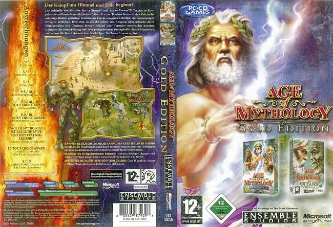 Age of Mythology Gold Edition pc cover german
