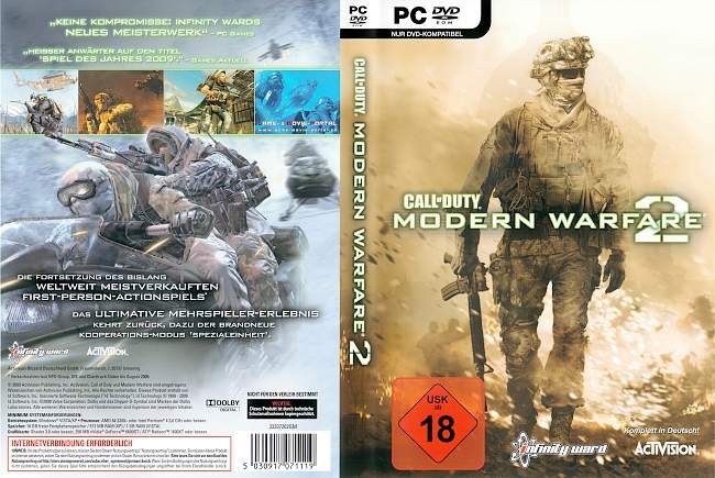 Call of Duty Modern Warfare 2 pc cover german