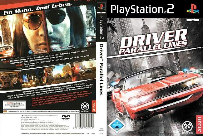 Driver Parallel Lines Playstation 2 cover german