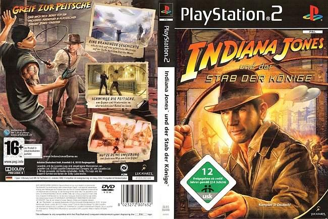 Indiana Jones und der Stab der Koenige Playstation 2 cover german