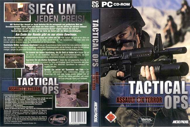 Tactical Ops pc cover german