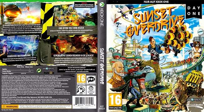 Sunset Overdrive german xbox one cover