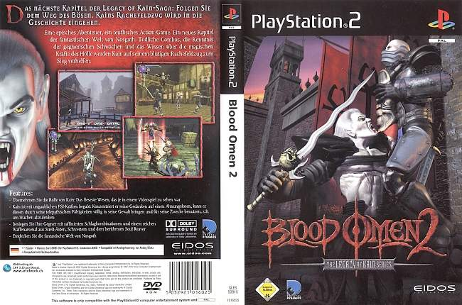 Blood Omen 2 Playstation 2 cover german