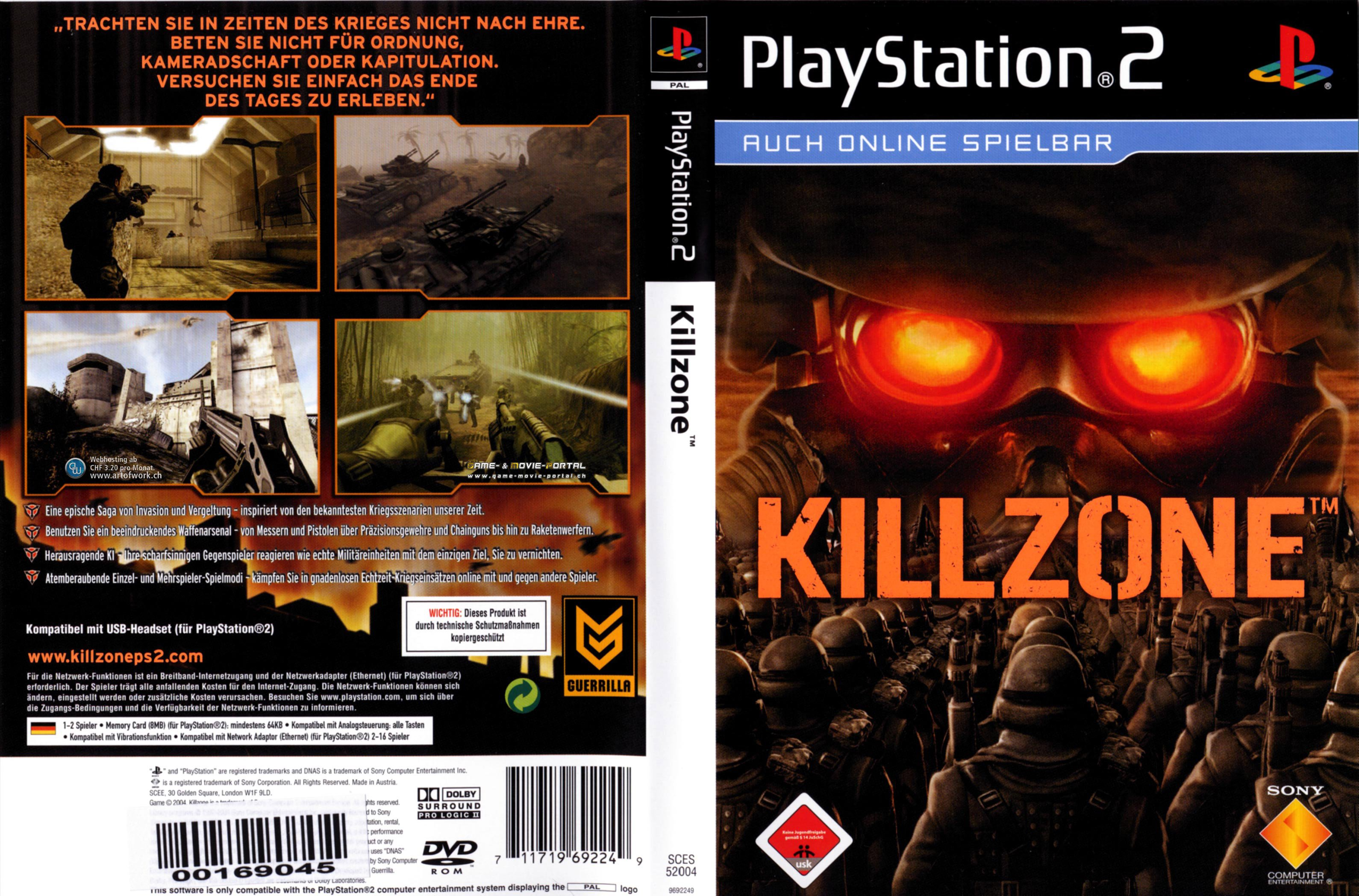 killzone playstation 2 cover german german dvd covers. Black Bedroom Furniture Sets. Home Design Ideas