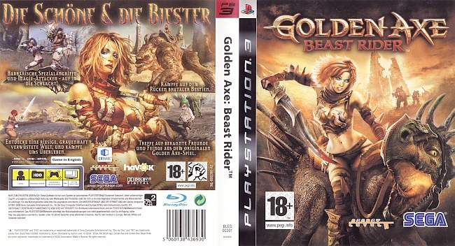 Golden Axe Beast Rider german ps3 cover