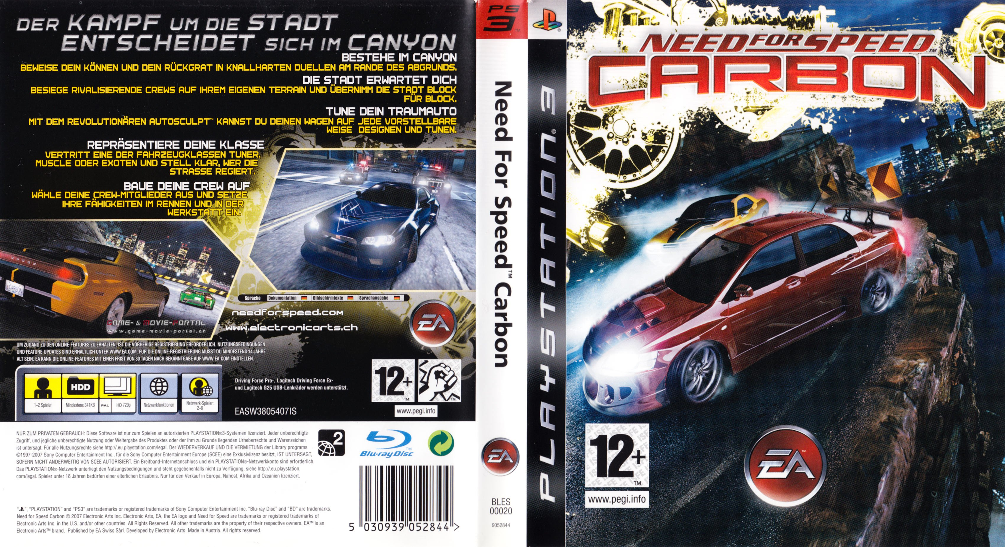 Need For Speed Carbon German Ps3 Cover German Dvd Covers