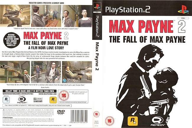 Max Payne 2 Playstation 2 cover german