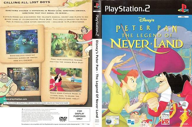 Peter Pan Disney The Legend of Neverland Playstation 2 cover german