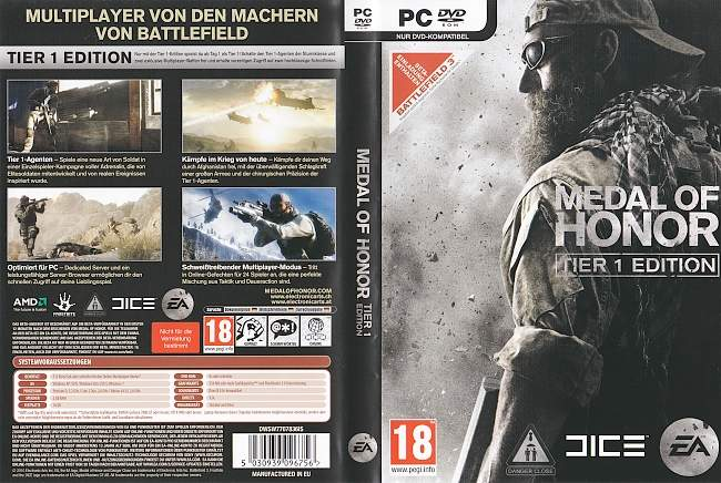Medal of Honor pc cover german