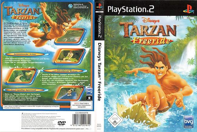 Tarzan Freeride Disneys Playstation 2 cover german