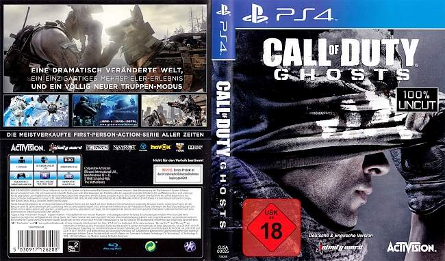 Call of Duty Ghosts german ps4 cover