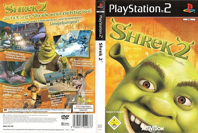 Shrek 2 The Game Playstation 2 cover german