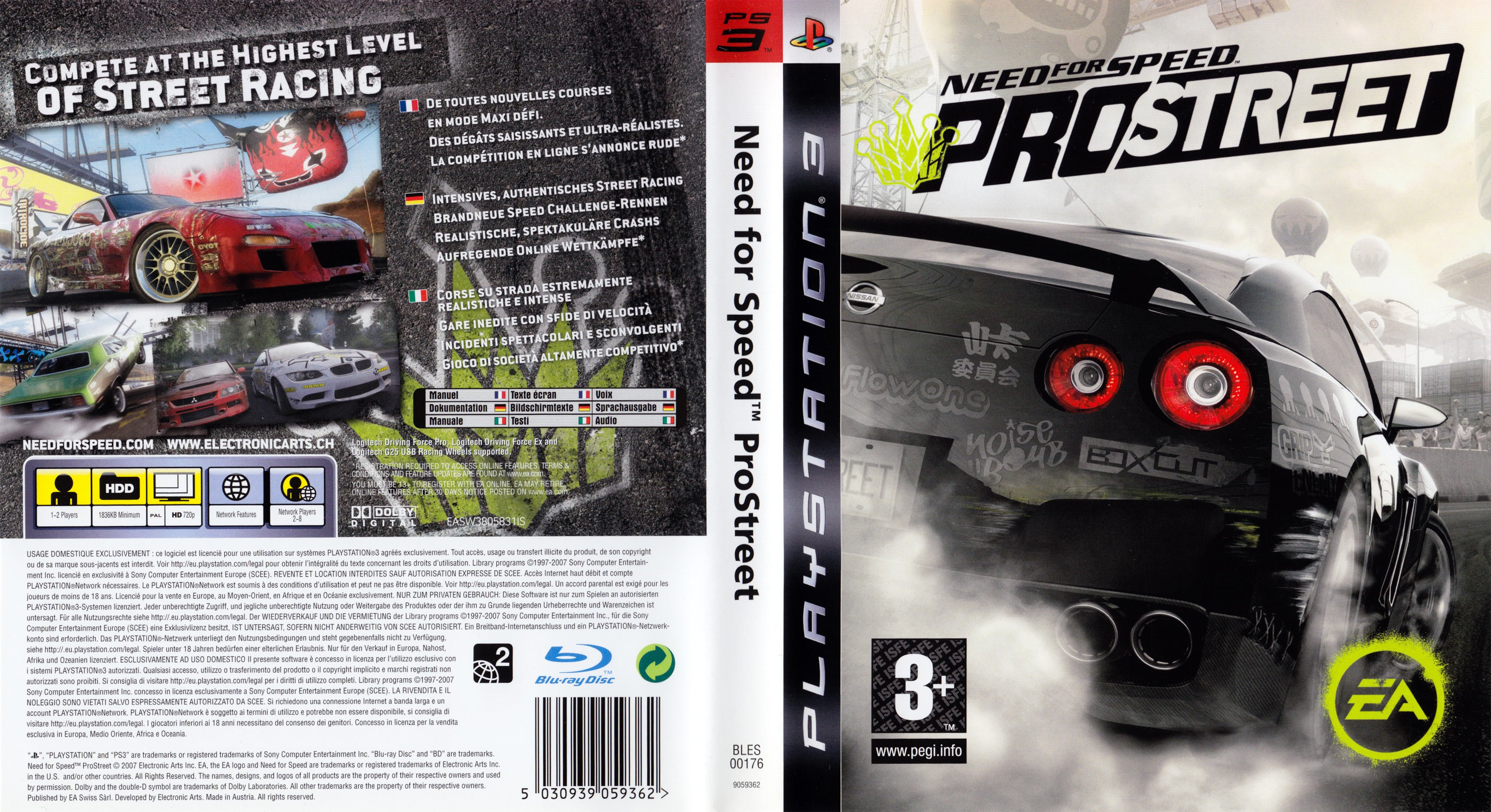 Need for Speed Pro Street german ps3 cover | German DVD Covers