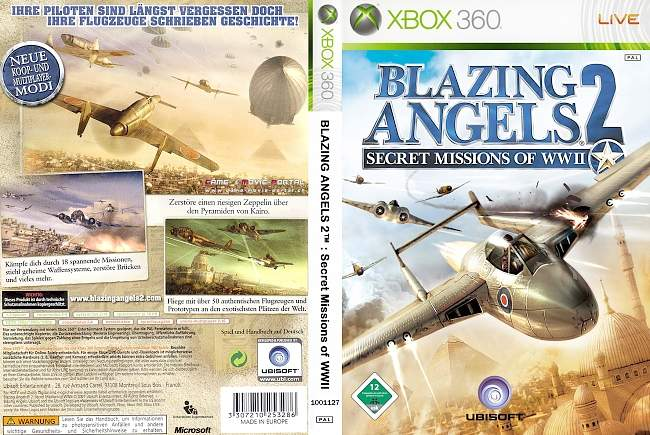 Blazing Angels 2 xbox 360 cover german