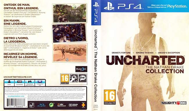 Uncharted The Nathan Drake Collection german ps4 cover