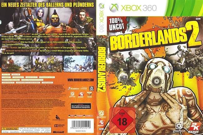 Borderlands 2 xbox 360 cover german