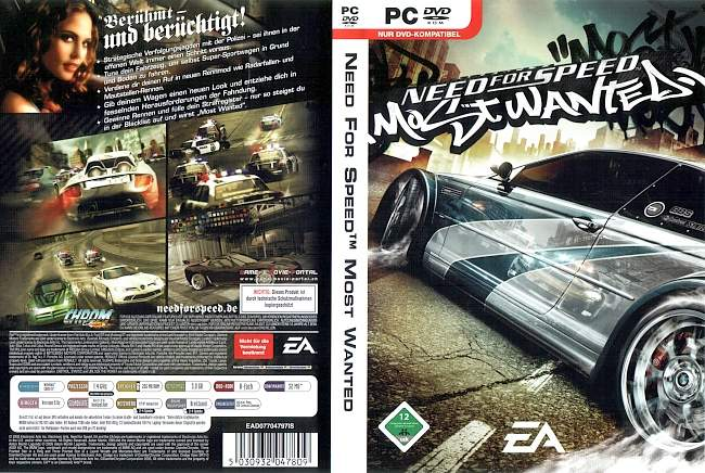 Need for Speed Most Wanted pc cover german
