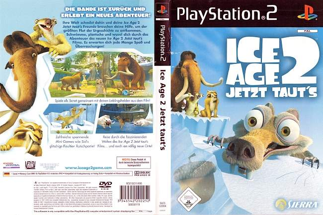 Ice Age 2 Jetzt tauts Playstation 2 cover german