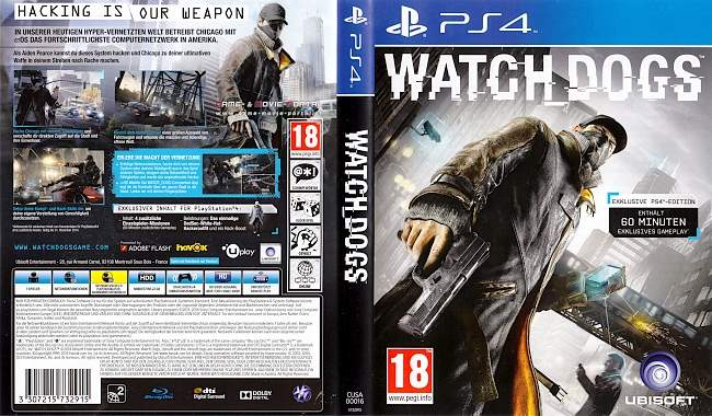 Watch Dogs german ps4 cover