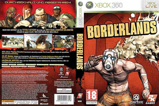 Borderlands xbox 360 cover german
