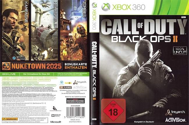 Call of Duty Black Ops 2 xbox 360 cover german