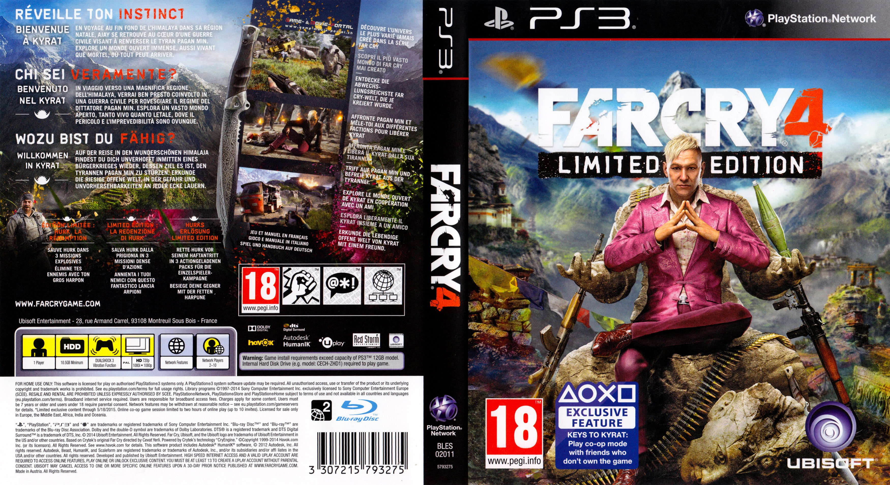 Far Cry 4 Limited Edition german ps3 cover | German DVD Covers
