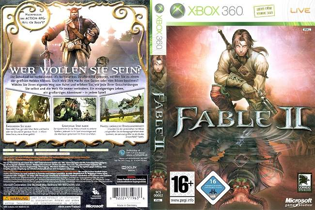 Fable 2 xbox 360 cover german