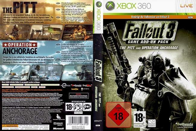 Fallout 3 Add On The Pitt Operation Anchorage xbox 360 cover german