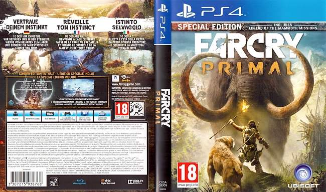 Far Cry Primal german ps4 cover