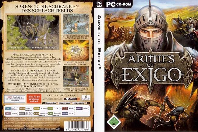 Armies of Exigo pc cover german