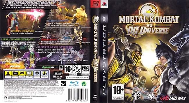 Mortal Kombat vs DC Universe german ps3 cover