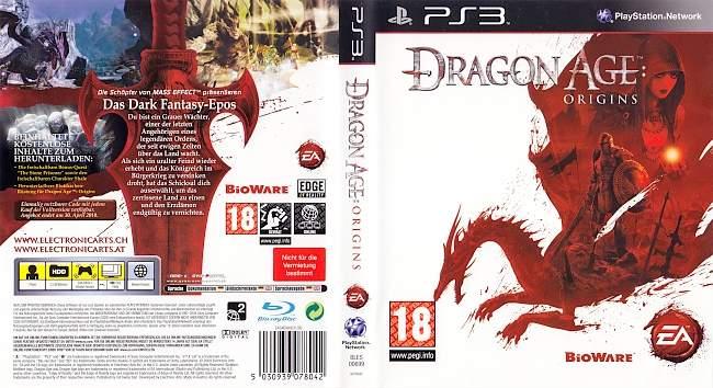 Dragon Age Origins german ps3 cover