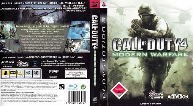 Call of Duty Modern Warfare 1 Version 2 german ps3 cover