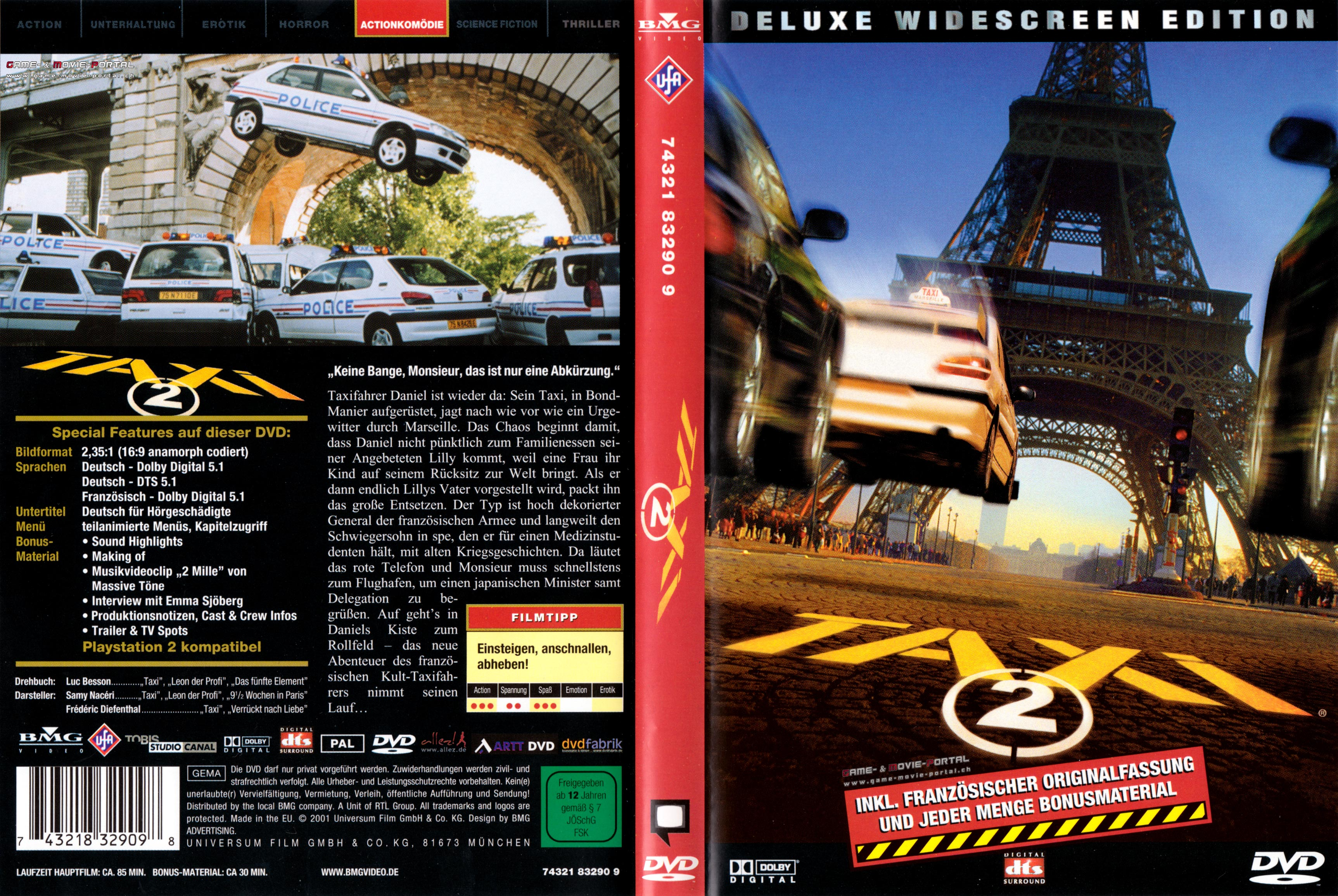 taxi 2 taxitaxi german dvd cover german dvd covers. Black Bedroom Furniture Sets. Home Design Ideas