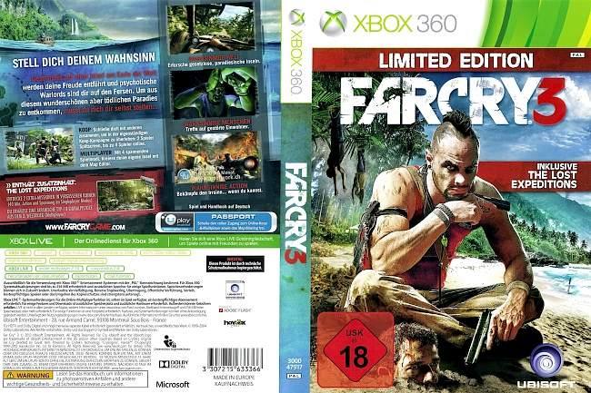 Far Cry 3 Limited Edition xbox 360 cover german