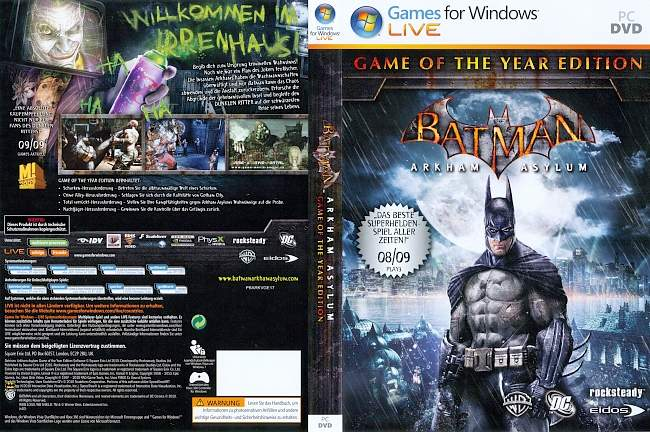 Batman Arkham Asylum Game of the Year Edition pc cover german