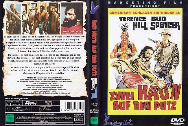 Zwei Haun auf den Putz Bud Spencer Terence Hill german dvd cover