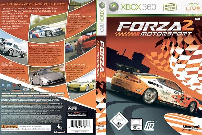 Forza Motorsport 2 xbox 360 cover german