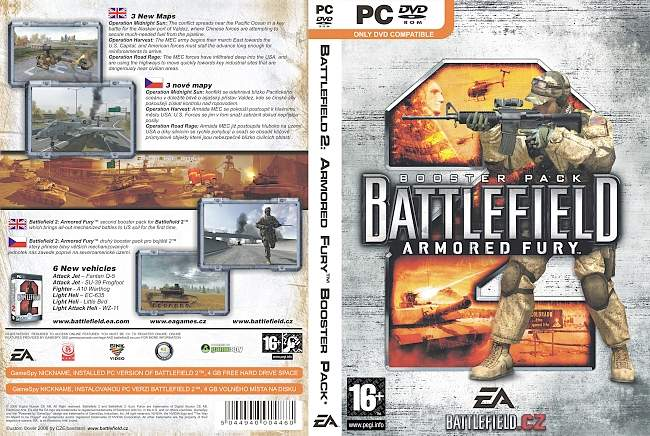 Battlefield 2 Armored Fury pc cover german