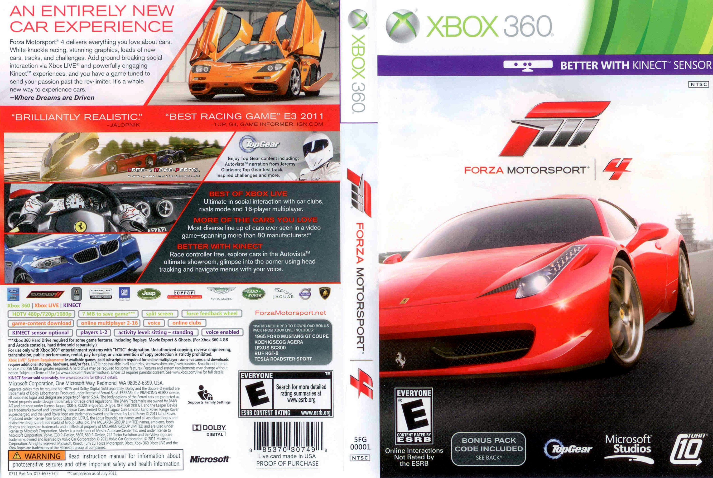 forza motorsport 4 xbox 360 cover german german dvd covers. Black Bedroom Furniture Sets. Home Design Ideas