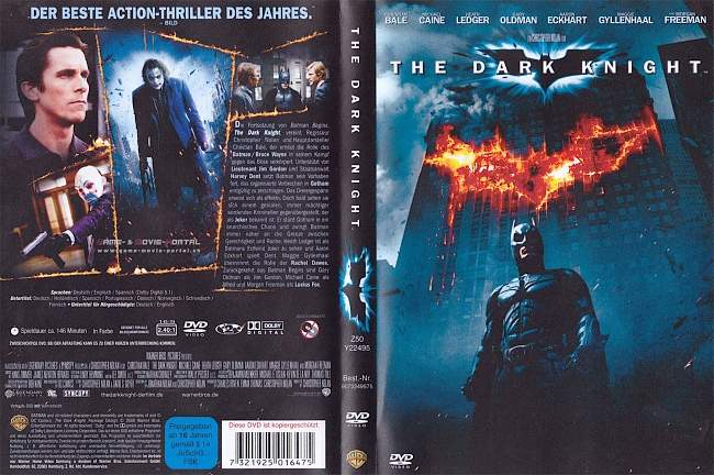 Batman Dark Knight Heath Ledger Christian Bale german dvd cover