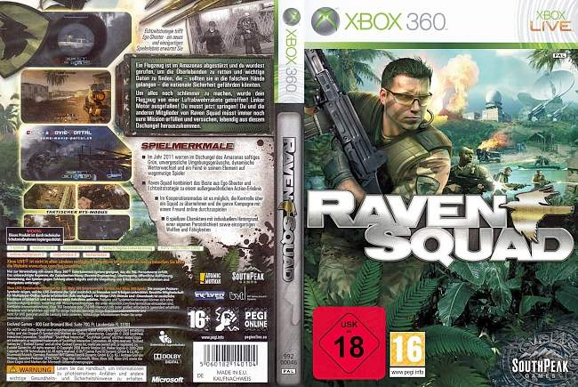 Raven Squad xbox 360 cover german