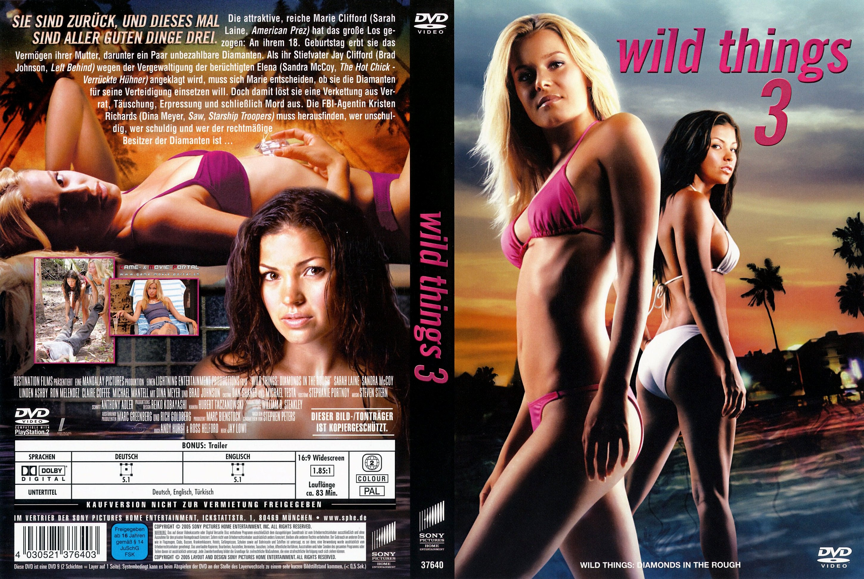 Wild Things 3 dvd cover german | German DVD Covers