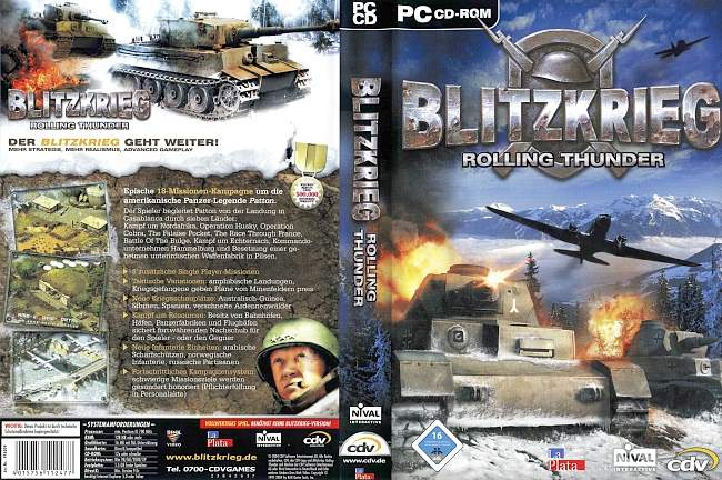 Blitzkrieg Rolling Thunder pc cover german