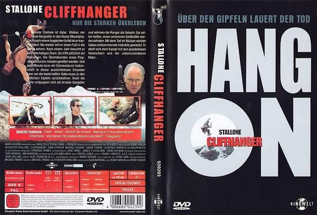 Cliffhanger Renny Harlin Sylvester Stallone german dvd cover