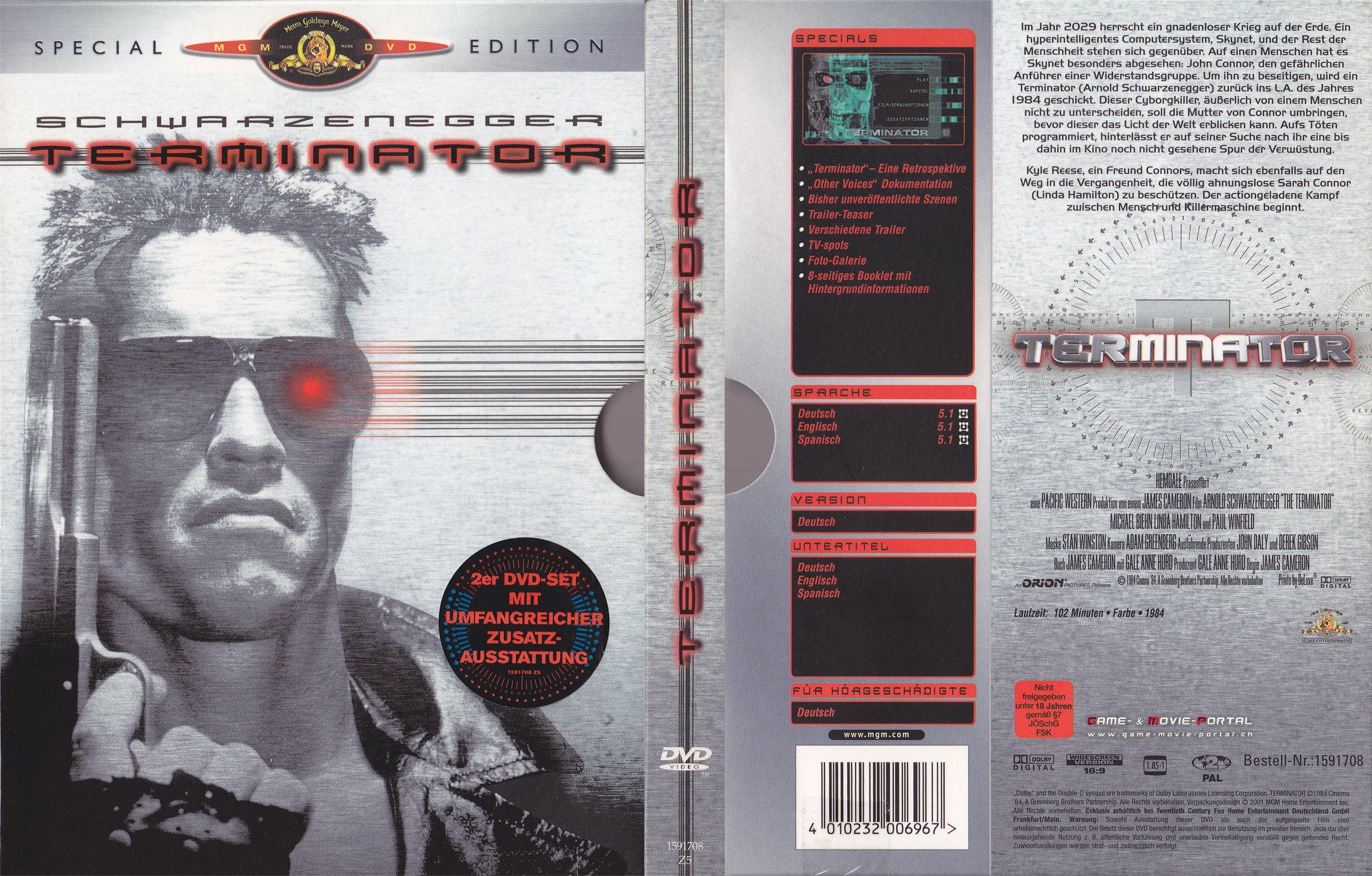 Image - The Terminator 1984 DVD Cover.PNG | Live Action Wiki ...