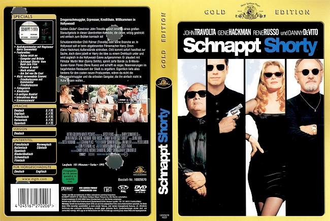 Schnappt Shorty Get Shorty John Travolta dvd cover german