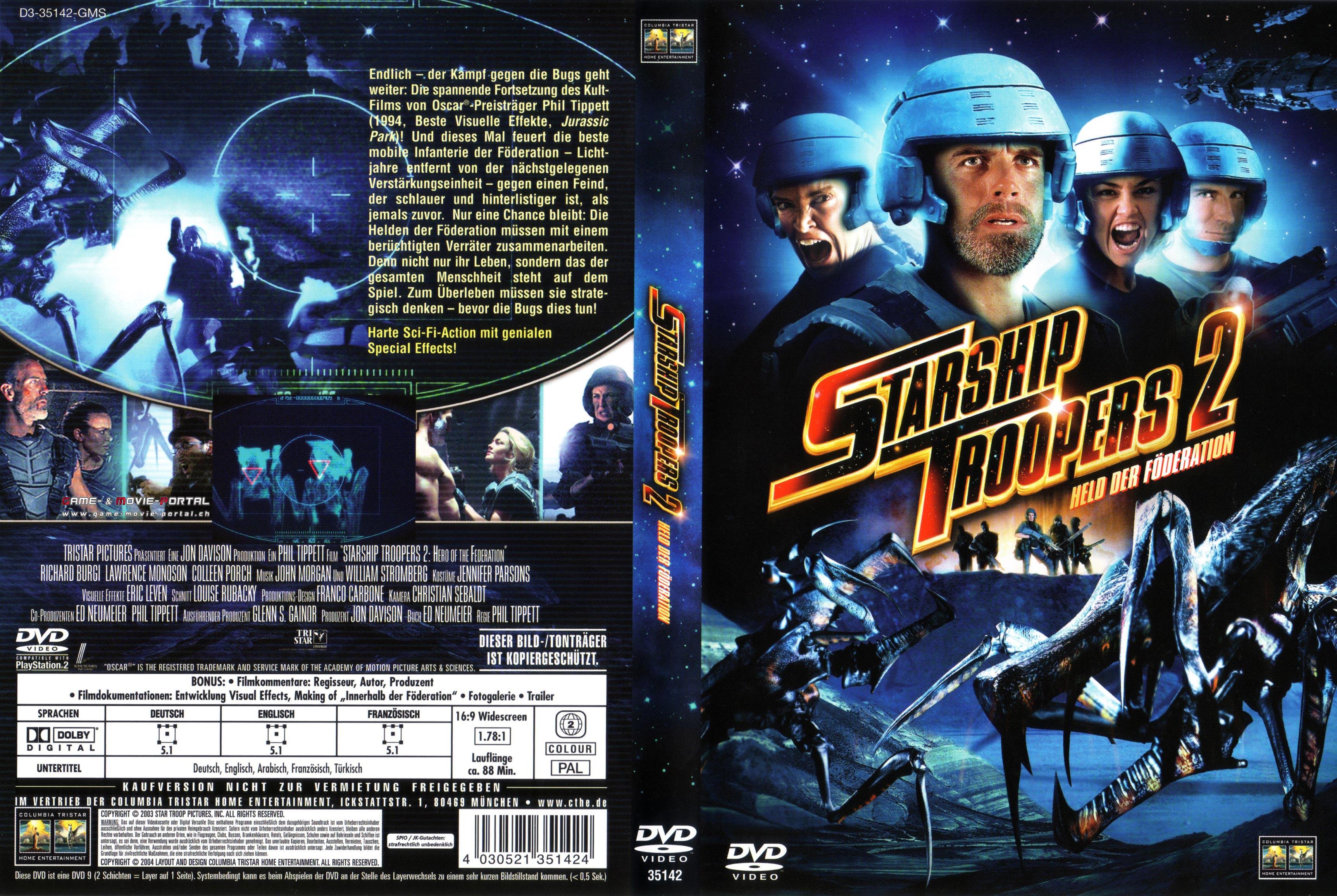 starship troopers 2 dvd cover german german dvd covers