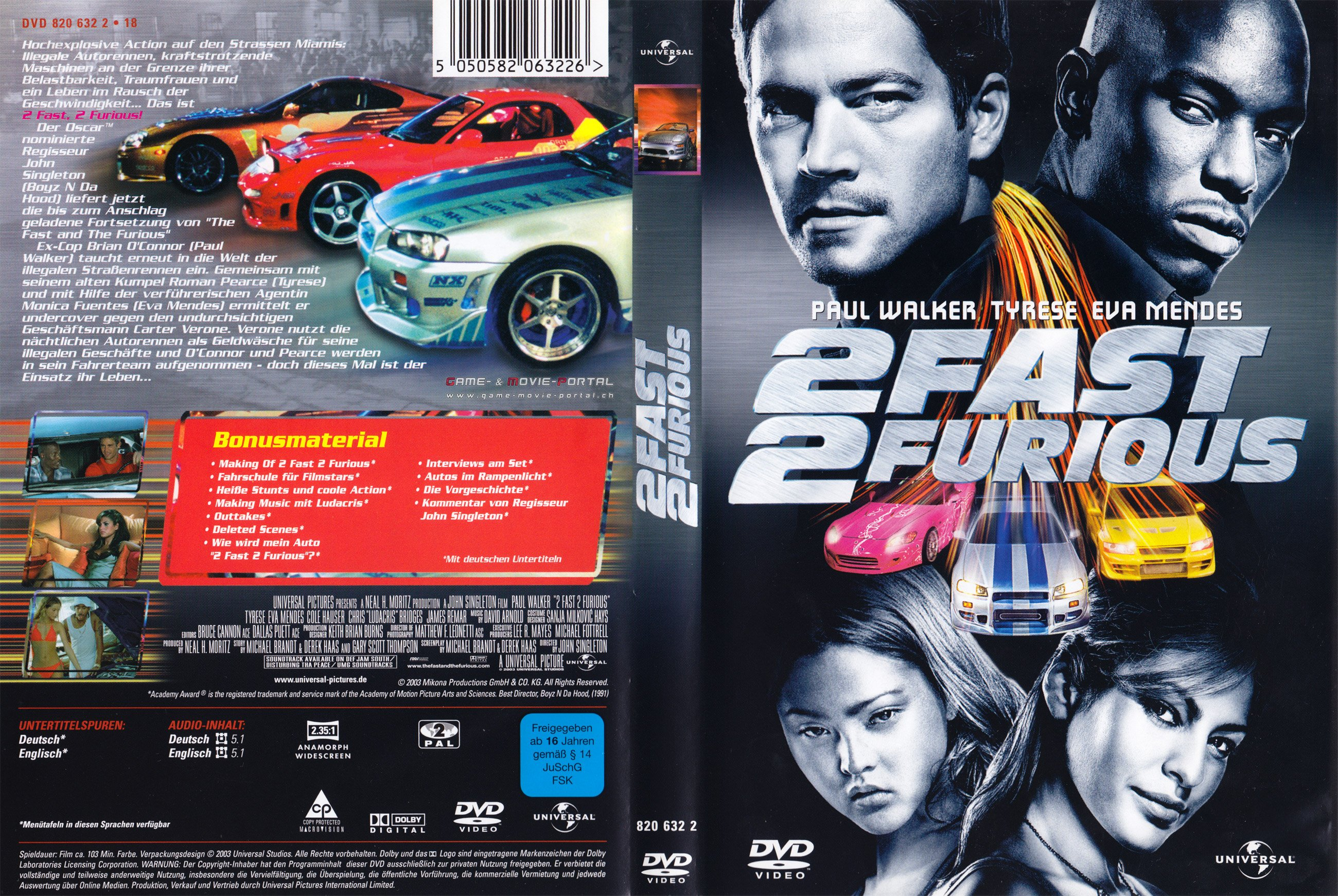 2 Fast 2 Furious German Dvd Cover German Dvd Covers