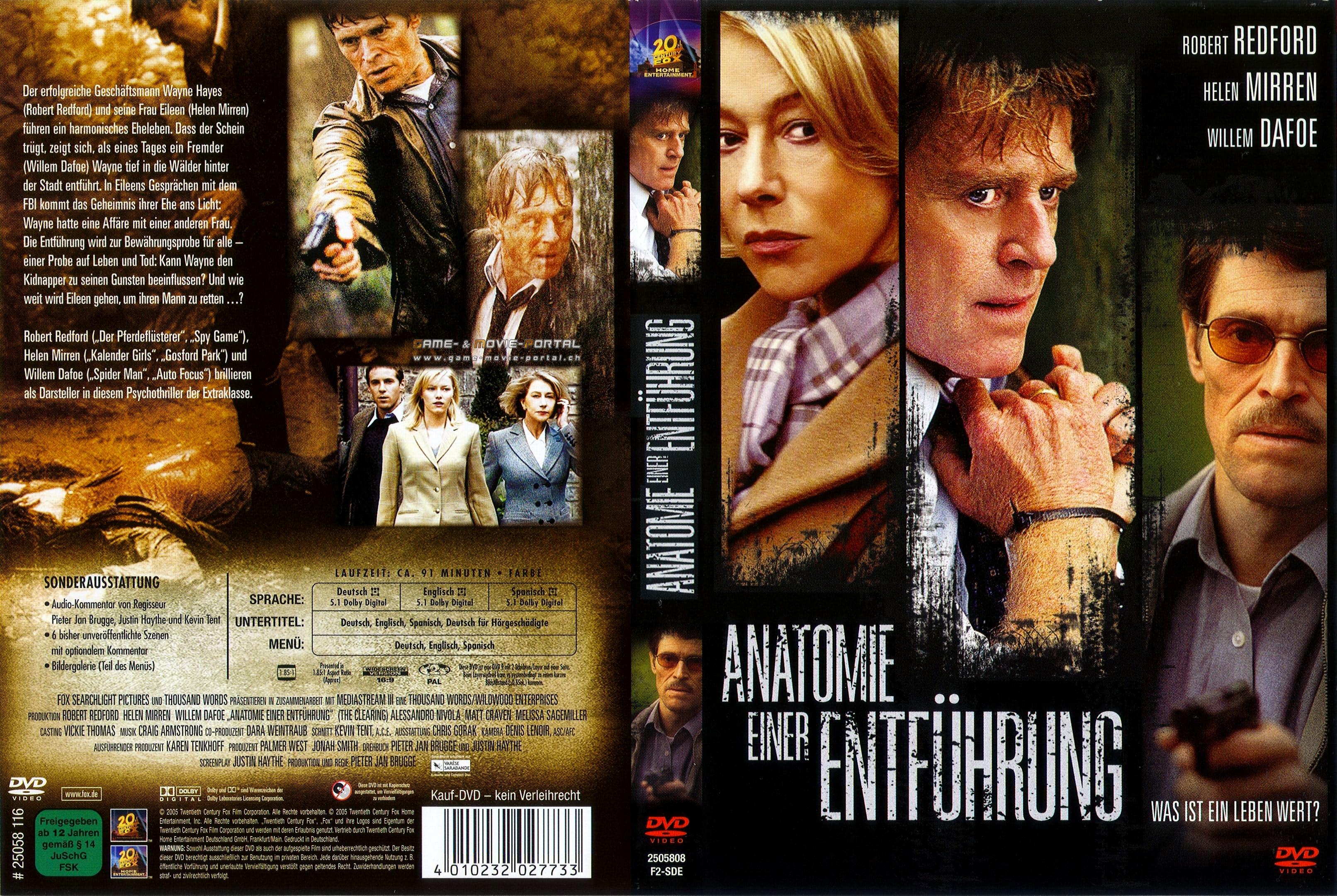Anatomie einer Entfuehrung german dvd cover | German DVD Covers